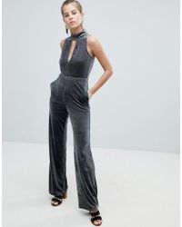 Oeuvre - Flared Jumpsuit With Keyhole Detail - Lyst