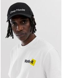 Cheap Monday - Cap With Logo In Black - Lyst