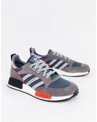598bb6597 adidas Originals - Never Made Boston Super Limited Edition Sneakers In Gray  Suede - Lyst