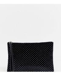Monki - Black Velvet Case With Glitter Dots - Lyst