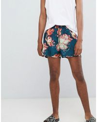 Weekday - Swim Shorts In Green With Tropical Print - Lyst