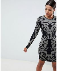 Ivyrevel - Jacquard Knitted Bodycon Mini Dress - Lyst