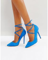 Office - Hilda Suede Pointed Court Shoes - Lyst