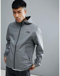 The North Face - Millerton Jacket Hooded Waterproof In Grey Marl - Lyst