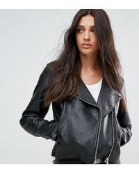 ASOS | Ultimate Leather Look Biker Jacket | Lyst