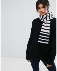 Whistles - Breton Stripe Knitted Scarf - Lyst
