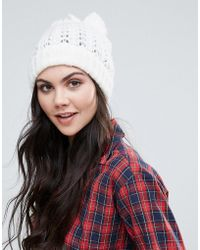 Alice Hannah - Lace Stitch Beanie - Lyst