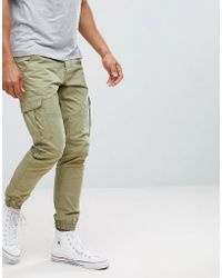 Solid - Cargo Trouser With Cuffed Hem - Lyst
