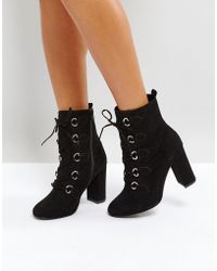 Faith | Bria D Ring Lace Up Boots | Lyst
