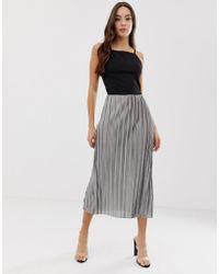 AX Paris - Pleated Midi Dress - Lyst