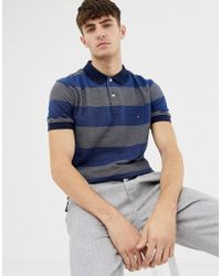 Tommy Hilfiger - Jacquard Striped Polo Shirt - Lyst