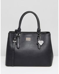 Marc B. - Minimal Tote Bag With Cross Body Strap In Black - Lyst