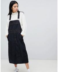 Dr. Denim - Bib Dungaree Dress In Raw Wash - Lyst