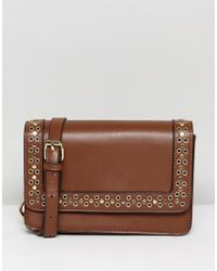 Lavand - Across Body Bag With Cut Out Studding - Lyst