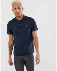Lacoste - Stripe Logo Polo Shirt - Lyst