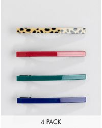 Stradivarius - Set Of 4 Hairclips - Lyst