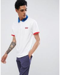 Levi's - Levi's Contrast Tipping Polo Shirt White - Lyst