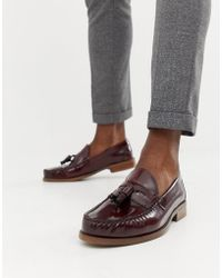 Office - Invasion Tassel Loafers In Burgundy High Shine - Lyst