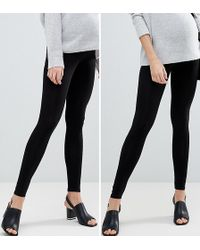 ASOS - 2 Pack Over The Bump High Waisted Leggings In Black - Lyst