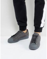 adidas superstar scarpe originali in grigio bz0566 in nero per gli uomini.