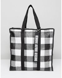 7db01c932b Pull Bear - Gingham Shoulder Bag - Lyst