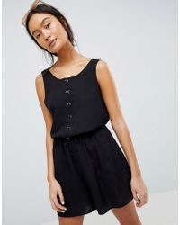 Weekday - Playsuit With Hook And Eye Details - Lyst