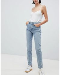 Weekday - Way High Waist Skinny Jeans In Blue - Lyst