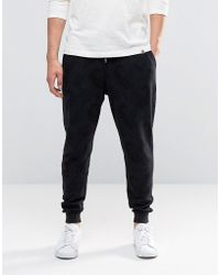 Pretty Green - Joggers With Tonal Paisley Print In Slim Fit - Lyst