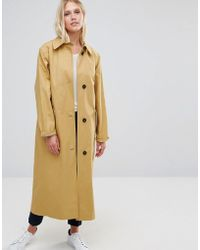 Cooper & Stollbrand - Oversized Relaxed Fit Duster Coat In Camel - Lyst