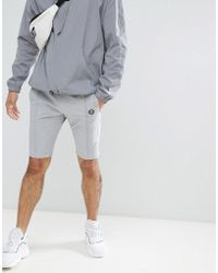 Religion - Nylon Shorts In Grey With Stretch - Lyst
