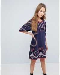 Hazel - Embroidered Shift Dress - Lyst