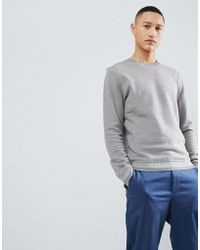 SELECTED - Sweatshirt With Cuff Details - Lyst