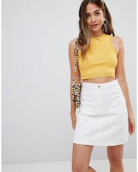 Missguided - Knitted Crop Top - Lyst