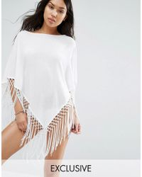 Wolf & Whistle - Tassel Beach Cover Up - Lyst
