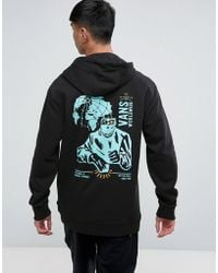 Vans - Wifi Death Hoodie With Backprint In Black Va36kjblk - Lyst