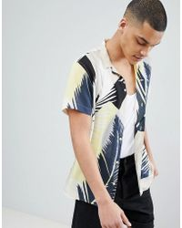 SELECTED - + Shirt With All Over Print And Revere Collar - Lyst