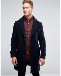 Benetton | Wool Overcoat With Bellow Pockets | Lyst