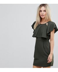 ASOS | Double Layer Mini Wiggle Dress With Angel Sleeve | Lyst