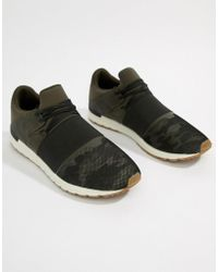 Pull&Bear - Elastic Detail Trainer In Camo - Lyst