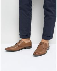 Frank Wright - Derby Shoes In Tan Leather - Lyst