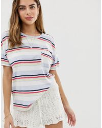 Abercrombie & Fitch - Deep Scoop Pocket T-shirt - Lyst