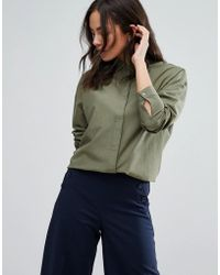Warehouse - Drawstring Shirt - Lyst