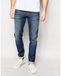 Pepe Heritage | Pepe Jeans Powerflex Finsbury Superstretch Skinny Fit Big Twill Mid Blue | Lyst