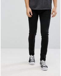 D-Struct - Black Stretch Skinny Jeans - Lyst