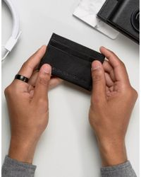 French Connection - Leather Card Holder With Embossed Logo - Lyst