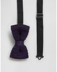 Féraud - Gianni Knitted Bow Tie In Purple - Lyst