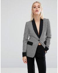 Fashion Union - Dogtooth Blazer Co-ord - Multi - Lyst