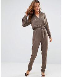 Lavand - Khaki Utility Jumpsuit - Lyst
