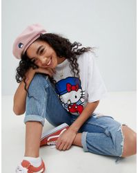 ASOS - Hello Kitty X Beret With Embroidery Detail - Lyst