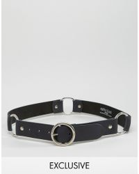 Retro Luxe London | Ring Detail Leather Belt - Black | Lyst